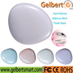 Gadget Portable Multi-Functional Hand Warmer Li-Polymer Power Bank with Make-up Mirror pictures & photos
