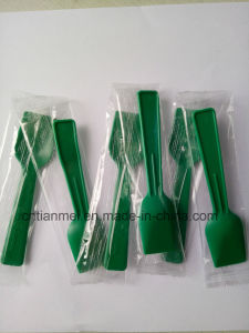 Green PS Shovel Spoon, Disposable Ice Cream Spoon pictures & photos