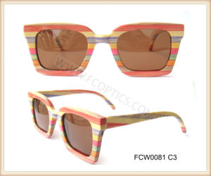 Brand Colorful Wooden Ski Sunglasses for Lady pictures & photos