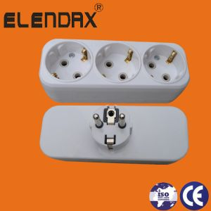 3-Outlet Gang Plug Socket 16А 250V (schuko 2P+E) pictures & photos