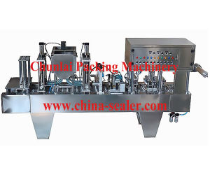 Liquid Yoghurt Cup Filling and Sealing Machine pictures & photos