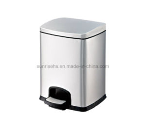 High Quality Stainless Steel Square Pedal Bin for Hotel pictures & photos