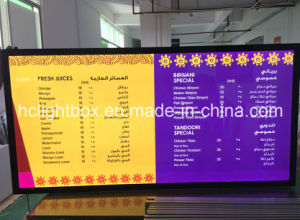 LED Menu Board Advertising Menu Board Light Box pictures & photos