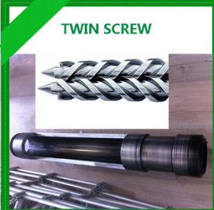 Bimetallic Conical Twin Screw Barrel for Pipe Fitting pictures & photos