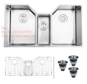 Stainless Steel Handmade Under Mount Triple Bowl Kitchen Sink, Handmade Sink, Kitchen Basin, Stainless Steel Kitchen Tank pictures & photos