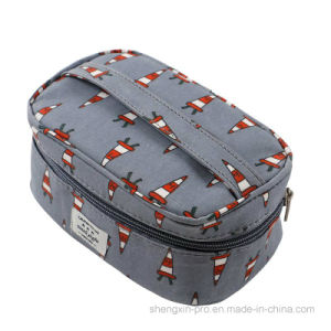 100% Cotton Cosmetic Bag Makeup Bag with One Handle pictures & photos