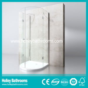 Hinger Door Circular Double Doors Selling Simple Shower Enclosure (SE713C)