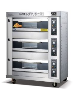 Cost Effective! ! ! High Performance! ! ! Gas Deck Oven Bread Oven Pizza Oven Baking Oven Bakery Equipment Kitchen Equipment (RQL-Y-3)