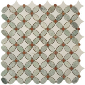 Ming Green Mix Thassos White Flower Pattern Mosaic pictures & photos