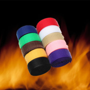 Reusable Hook and Loop Fireproof Velcro Tape for Garments pictures & photos