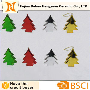 Plating Christams Tree Shape Ceramic Hanging Decoration pictures & photos