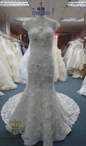 Newest Flower Lace Wedding Bridal Dress pictures & photos