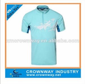 100% Polyester Collar Brand Sport T Shirt for Wholesale (CW-S-RS50) pictures & photos