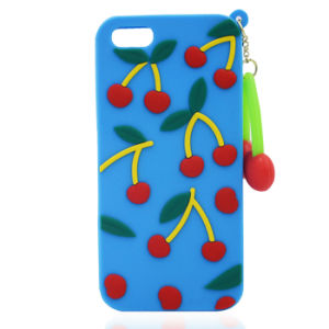 Pendant Cherry Silicone Case for iPhone 7 7plus Huawei Y6II HTC 530 626 for Zte A510 A610 V6plus (XSF-024) pictures & photos