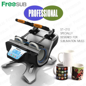 Double-Station Mug Automatic Sublimation Heat Press Machine (ST-210) pictures & photos