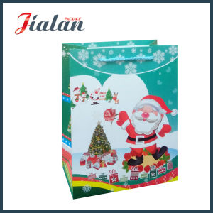 OEM Design Glossy Lamination Christmas Day Large Custom Paper Bag pictures & photos