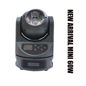 New Arrival Mini 60W DMX RGBW Color Mixing Super Beam LED Moving Light pictures & photos