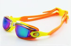 Electroplated Colorful Glasses Anti-Fog Swimming Goggles pictures & photos