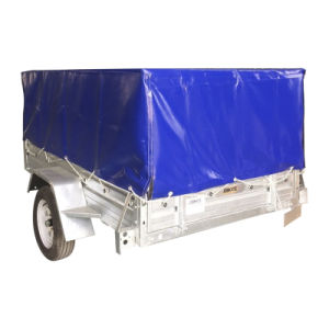 Hot Dipped Galvanized Tilt Box Trailer with 600mm Cage Trailer pictures & photos