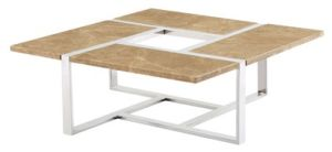 Toughened Glass Top Tea Coffee Table with 2mm Thickness Ss 304 pictures & photos