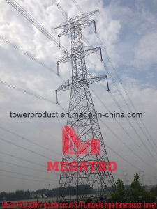 500kv Double Circuit Sjt Umbrella Type Transmission Tower pictures & photos