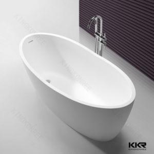 White Doube End Artificial Acrylic Stone Hotel Bathtub pictures & photos