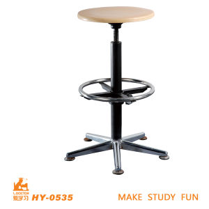 High Adjust Wooden Student Lab Chairs of Education Furniture pictures & photos