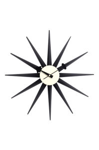 Wood Black Sunbust Wall Clock pictures & photos