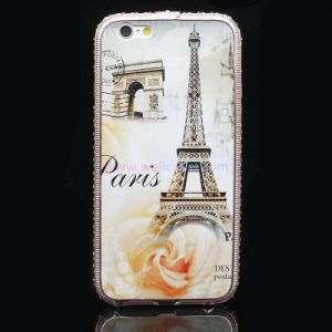 Custom Printed Cell/Mobile Phone Case with Metal Diamond Frame for iPhone 6/6plus