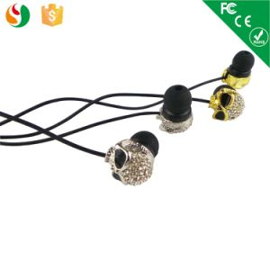 2015 Fashion Stylish MP3 Metal Skull Earphones pictures & photos