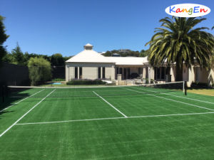 Filed Green Artificial Grass for Tennis Court pictures & photos