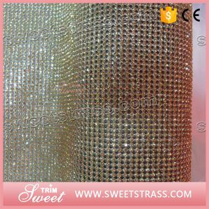 Aluminum Colored Rhinestone Mesh for Fashion Decoration pictures & photos
