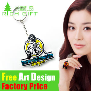 fashion Design 3D on One Side PVC/Rubber Keychain pictures & photos