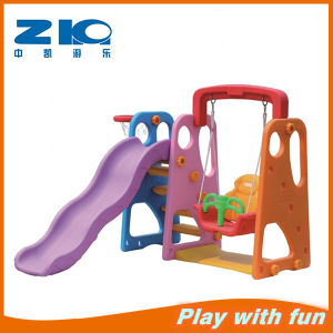 Kindergarten Colorful Indoor Plastic Slide with Swing pictures & photos