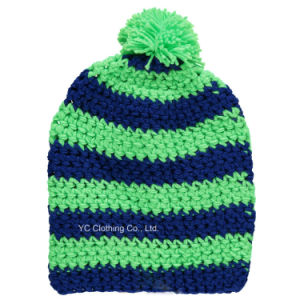 Quality 100% Super Soft Acrylic Yarn Winter Knitted Cap pictures & photos
