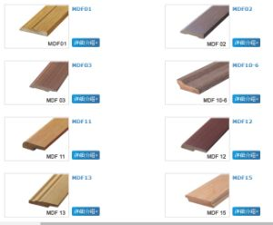 Ck MDF Skirting Boards Wrapped PVC Grain Film pictures & photos