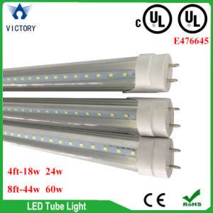 8′ T8 LED Tubes 44W 4000k 5000k Frost Bi-Pin Internal Driver Dlc UL LED Tube Light pictures & photos