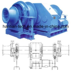 30kn-400kn Electric Double Drum Mooring Winch (2HTEMW100) pictures & photos