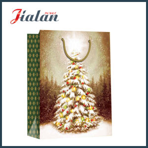 Glossy Laminated Coated Paper Christmas Tree Shopping Gift Paper Bag pictures & photos