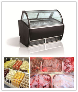Popsicle Stick Showcase /Italian Gelato Ice Cream Display Cabinet of Ice Cream Machine (CE approved) pictures & photos