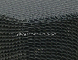 Save Space Stackable Outdoor Garden Aluminum+PE-Round Rattan Woven Pool Side Sun Lounger (YTF355) pictures & photos
