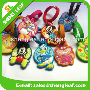 Custom Made Logo PVC Rubber Luggage Tag (SLF-LT030) pictures & photos