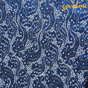 Lastet Design Blue Organza Lace Fabric pictures & photos