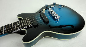Aiersi Blueburst Color Hollow Body Electrical Jazz Ukulele pictures & photos
