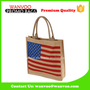 Jute Reusable Tote Handle Shopping Linen Fabric Bag pictures & photos