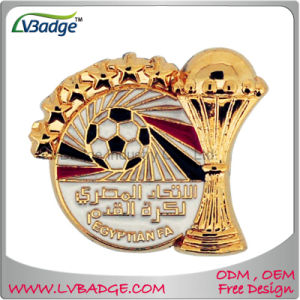Plating Gold Zinc Alloy Lapel Pin with Gifts pictures & photos