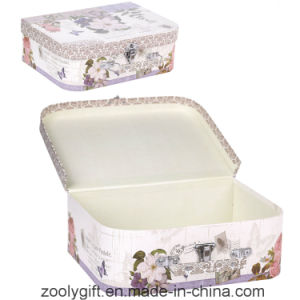 Custom Printing Suitcase Paper Gift Box with Handle and Lock pictures & photos