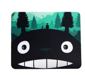 Green Dragon Cat Rubber Mouse Pad
