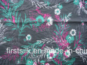 Silk Cotton Stripe Woven Screen Printed Fabric pictures & photos