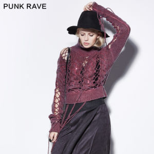Pm-030 Punk Ripped Moon Cashmere Design of Hand Made Sweaters pictures & photos